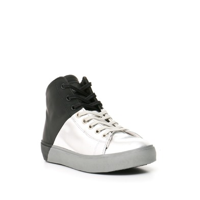 Leather Crown Sneakers Donna